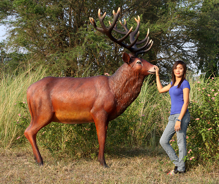 Majestic Red Stag Statue