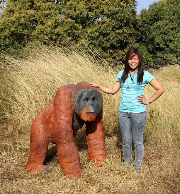 Walking Male Orangutan Statue