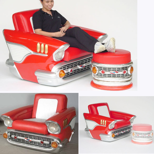 Chevy-Car Chair Foot Rest