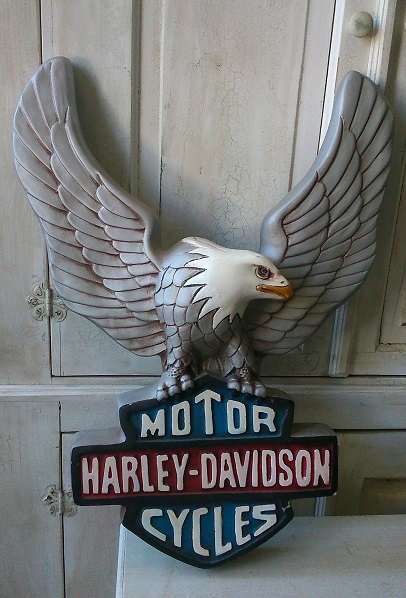 Harley Davidson Motorcycle with Eagle Insignia