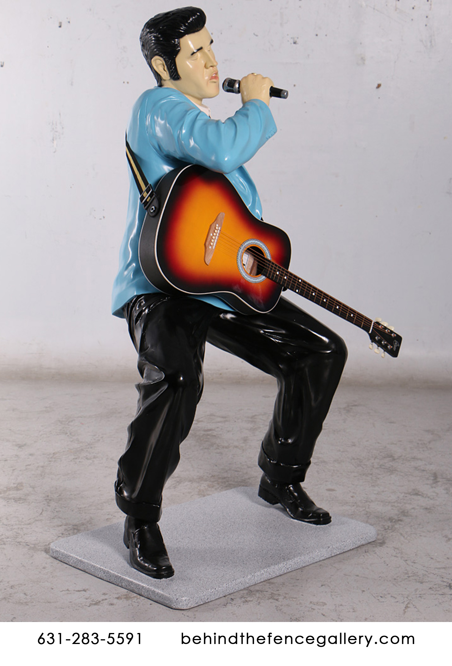 Elvis Singing With Guitar Statue