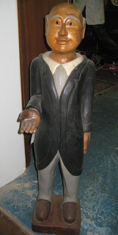 Butler - Hand Carved Wood Statue.