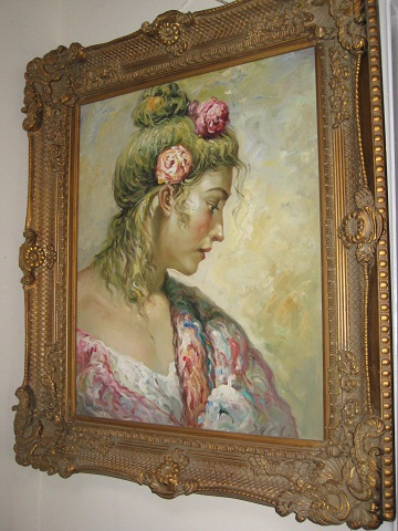 Oil Painting-Lady with Flowers