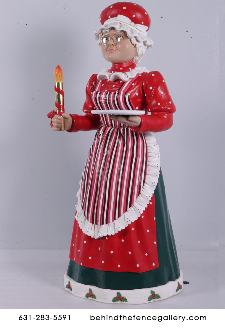 Mrs. Claus Life Size Christmas Statue