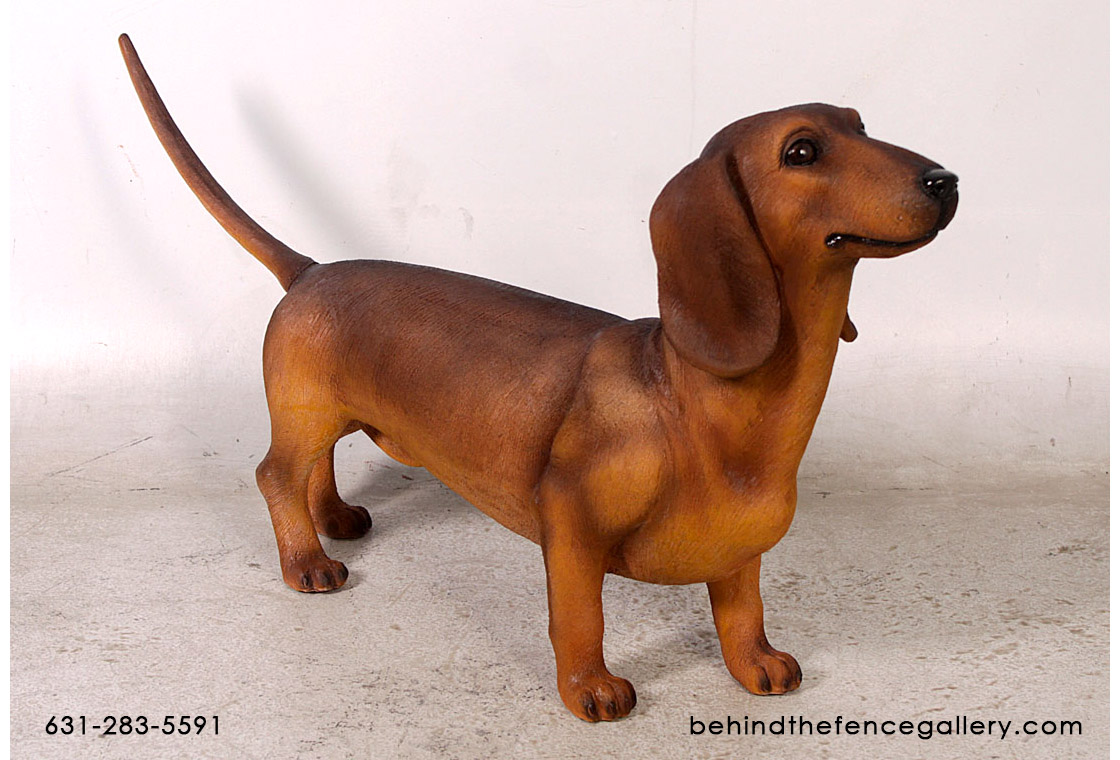 Brown Dachshund Statue
