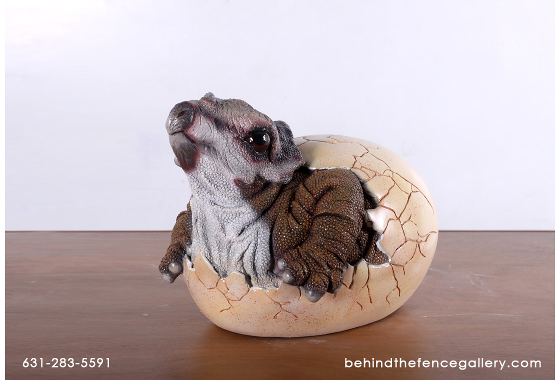 Baby Triceratops Hatching Statue