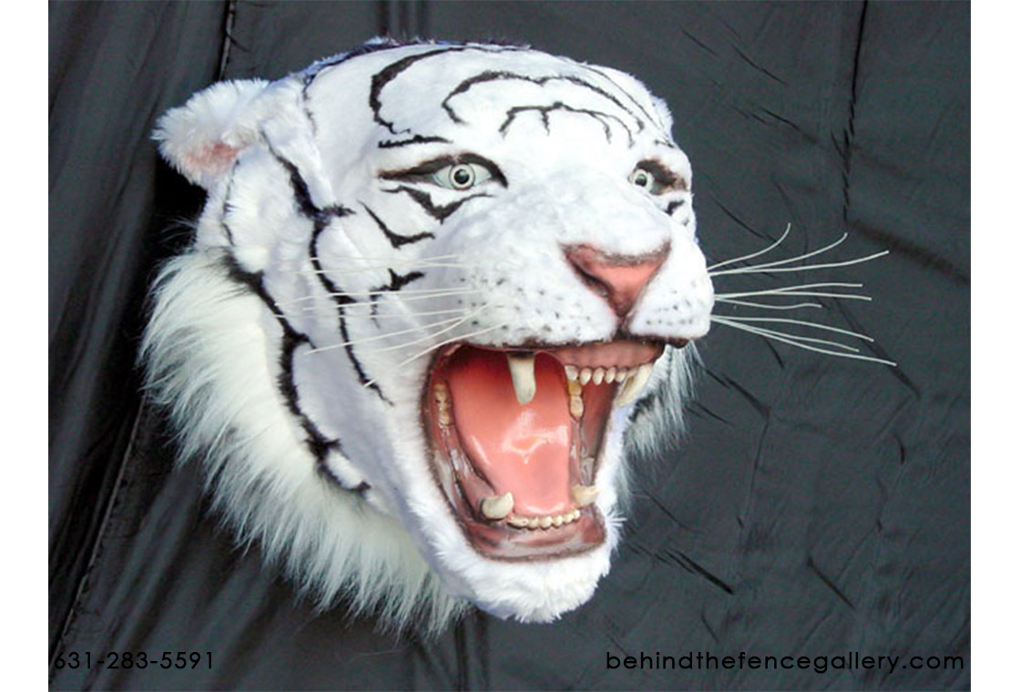 White Tiger Head Wall Mount