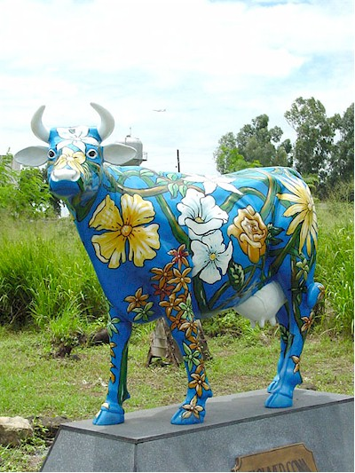 Hawaiian / Flower Cow (with or without Horns)