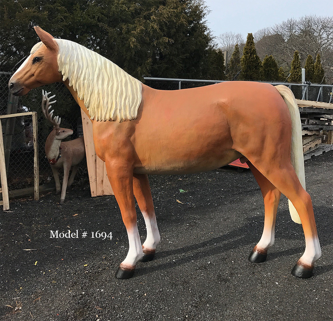 Brown Horse with Sculpted Mane