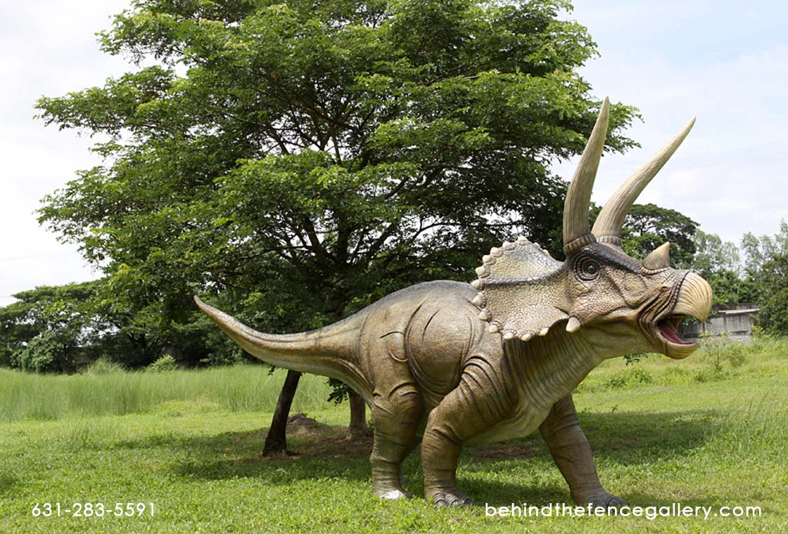 Giant Triceratops Statue