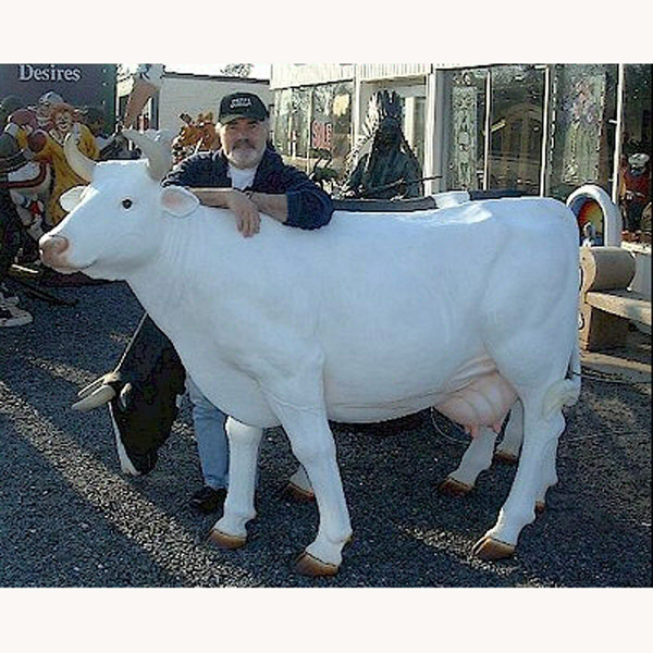 Cow - All White, Head Up (with or without Horns)