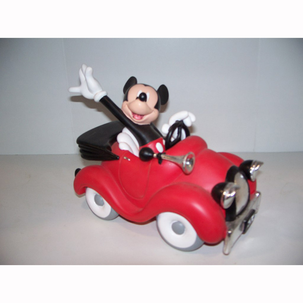 Mickey Mouse in a Race Car
