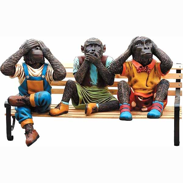 Monkeys on Bench