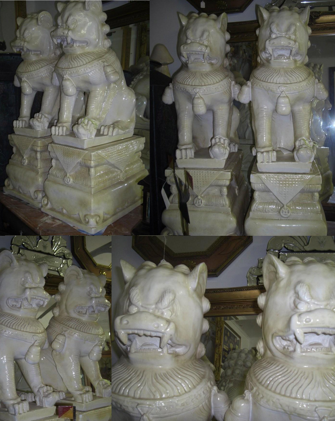 Discounted Porcelain Foo Dog ( Pair )
