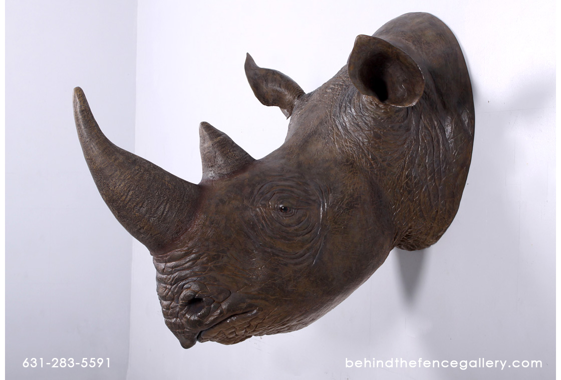 Rhinoceros Head Wall Mount