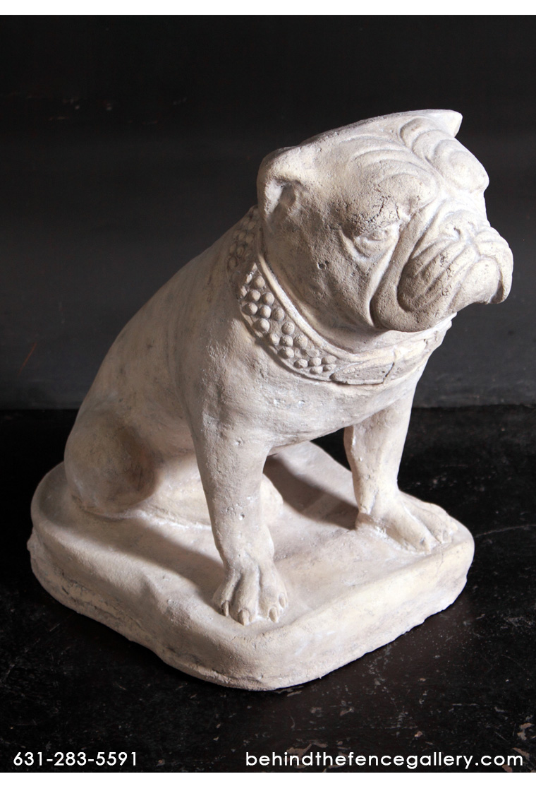 Bulldog Statue in Roman Stone Finish