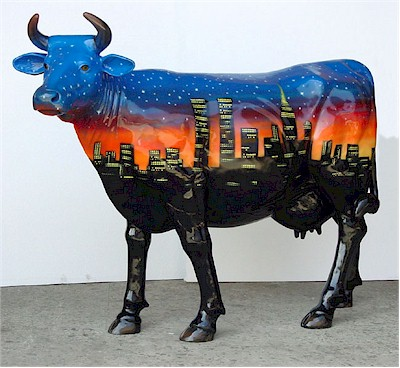 """ City Cow "" Statue (with or without Horns)"