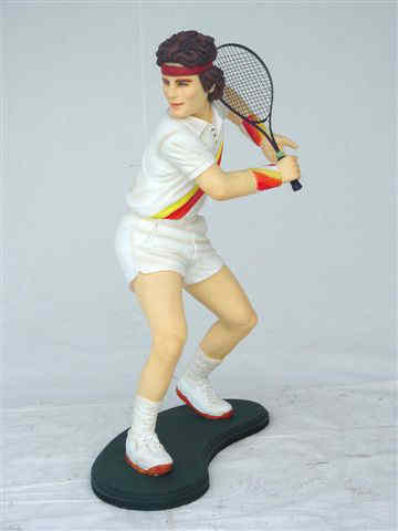 Tennis Player Statue 6 ft