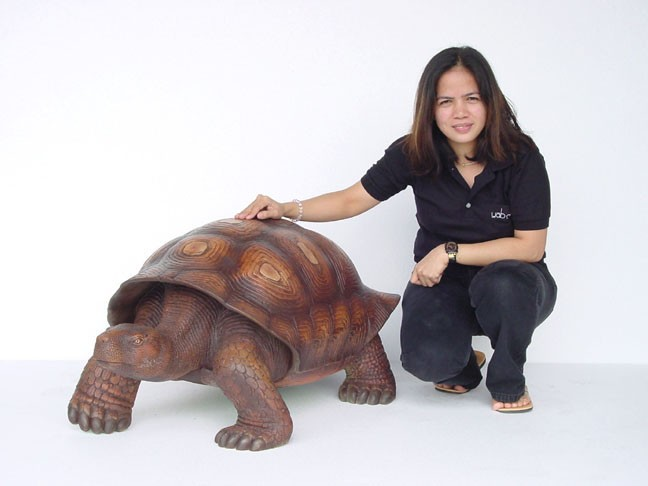 Turtle / Tortoise Statue (Brown)